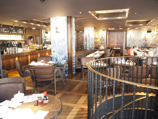 Upstairs dining room at The Duck and Rice, Soho